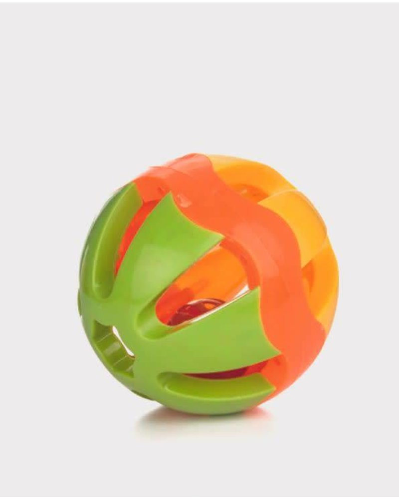 Plastic playball with bell