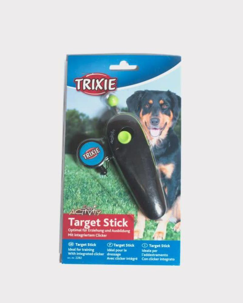 Target stick with clicker