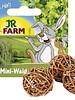 JR FARM Jr-Farm Mini Wicker Play Balls, 3 pieces
