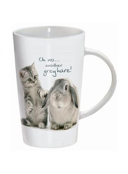Drinking cup ,Oh no... another grey hare