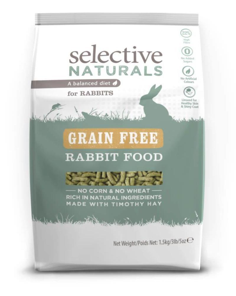 Selective Naturals, grain free konijn 1,5 kg