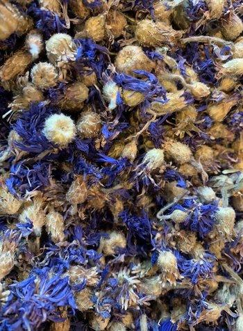 Korenbloem blauw: kl. gewicht