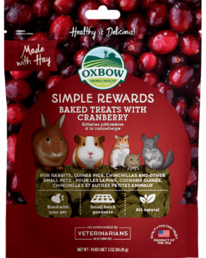 Oxbow Oxbow Simple Rewards Baked Treats with Cranberry