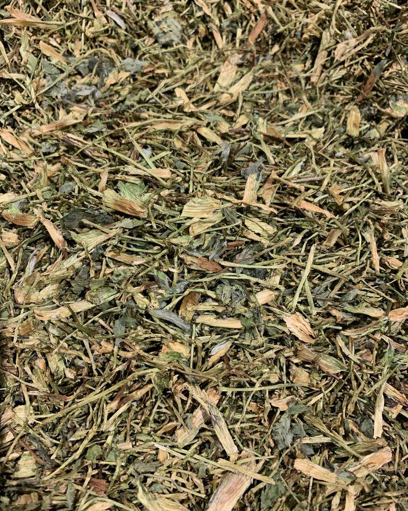 Rode klaver steeltjes met bladeren - Trifolium pratense