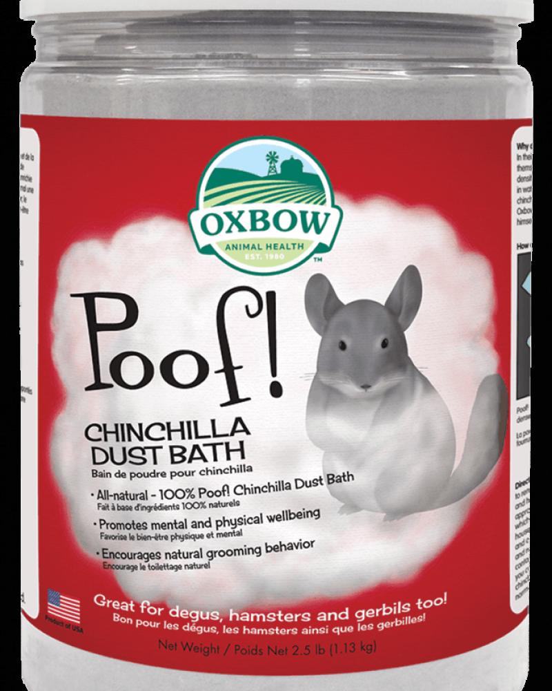 Oxbow Oxbow Chinchilla Poof! Bain de poudre pour chinchillas