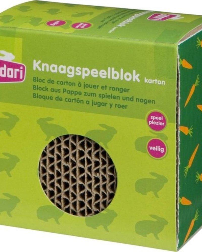 Gnawing play block carton
