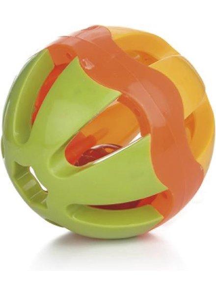 Plastic speelbal met bel. Verschillende afmetingen
