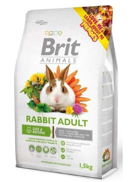 Brit Rabbit adult 1.5 en 3 kg