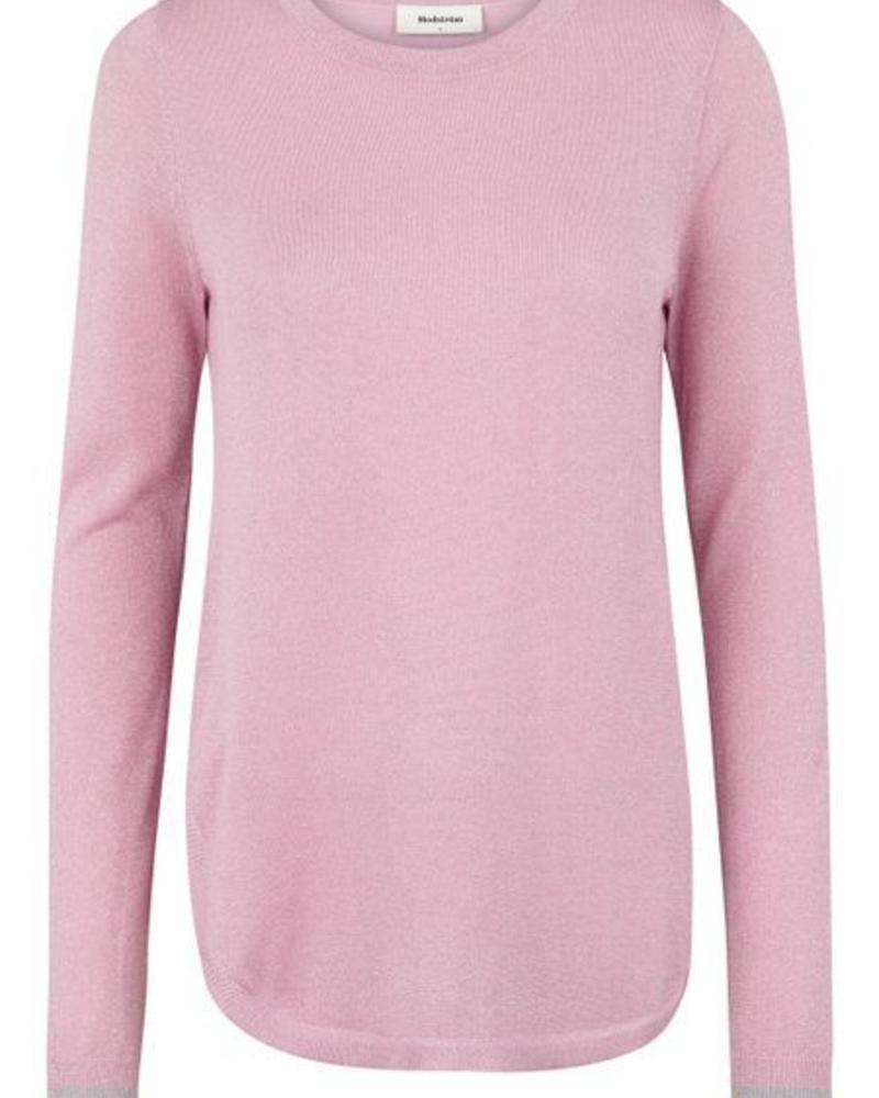 MODSTRÖM 53145 - Fancy o-neck - Ballet Pink