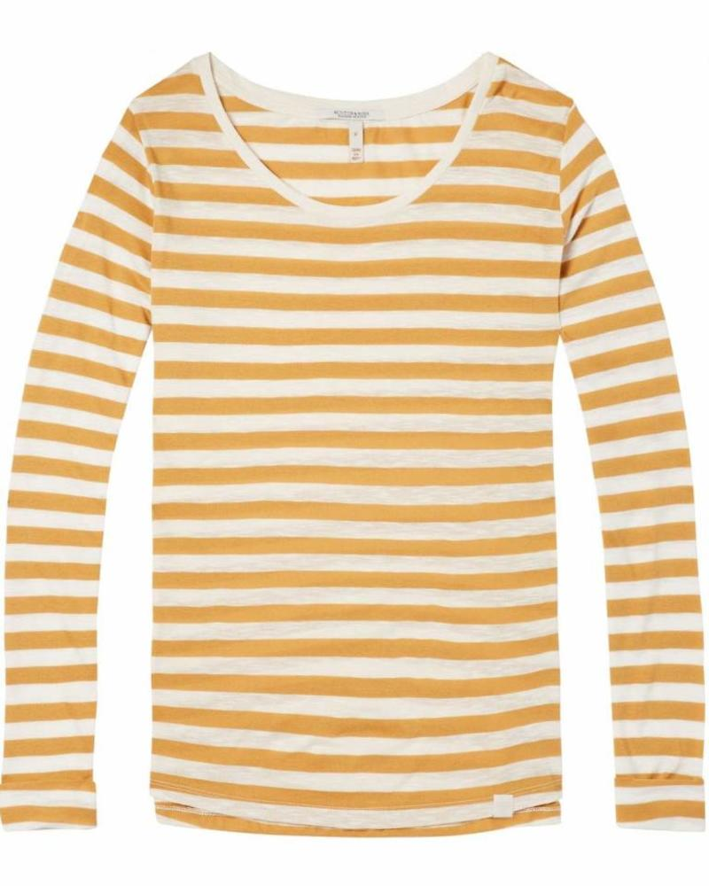 SCOTCH & SODA 144921 - Basic relaxed fit long sleeve top in stripes and prints - Combo T - 99 - 18210250921