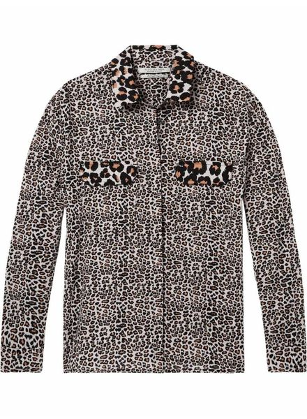 SCOTCH & SODA 143393 - Drop shoulder relaxed cotton button up shirt in mixed animal - Combo A - 17 - 18210220393