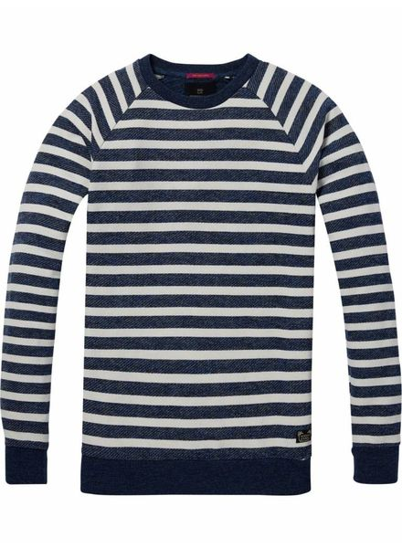 SCOTCH & SODA 142566 - Crewneck sweat in multicolour melange felpa quality - Combo A - 217