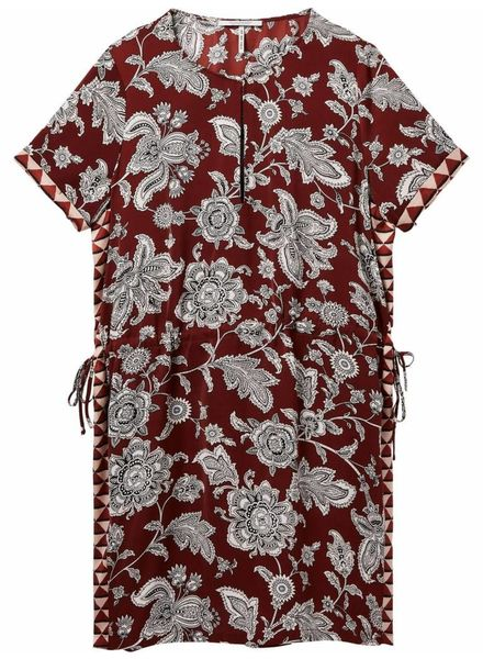 SCOTCH & SODA 143465 - Short sleeve printed dress with elasticated waist and contra - Combo A - 17 - 18210388465
