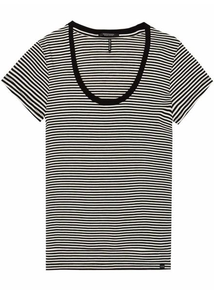 SCOTCH & SODA 143732 - Scoop neck tee in stripes and solids - Combo A - 17 - 18210351732