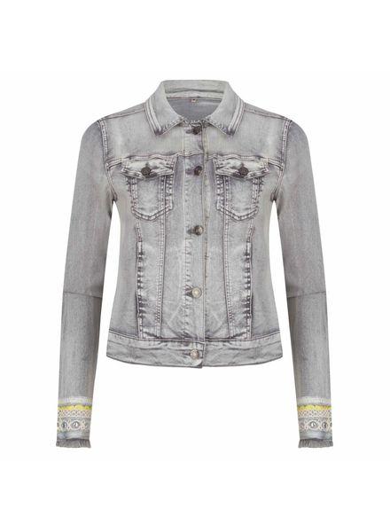 ESQUALO Jacket jeans tapes - Grey