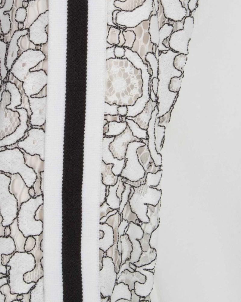 ESQUALO Bomber sweat lace - Off White