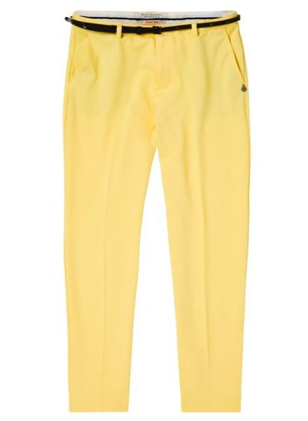 SCOTCH & SODA 144742 - Tailored sweat jogger, sold with a belt / Tapered leg sweat - Lemon Yellow - 2031 - 18210283742