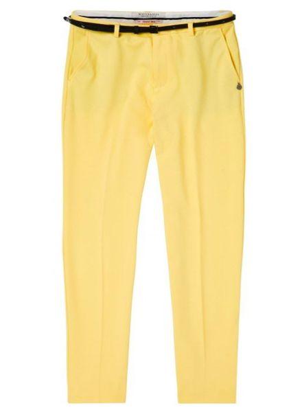 SCOTCH & SODA 144742 - Tailored sweat jogger, sold with a belt / Tapered leg sweat - Lemon Yellow - 2031 - 18210283742