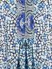 ESQUALO Dress mosaic print