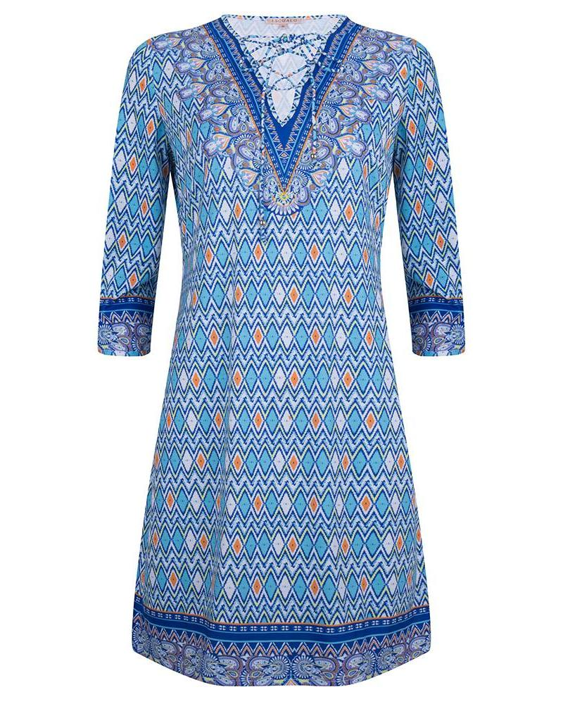 ESQUALO Dress ethnic print