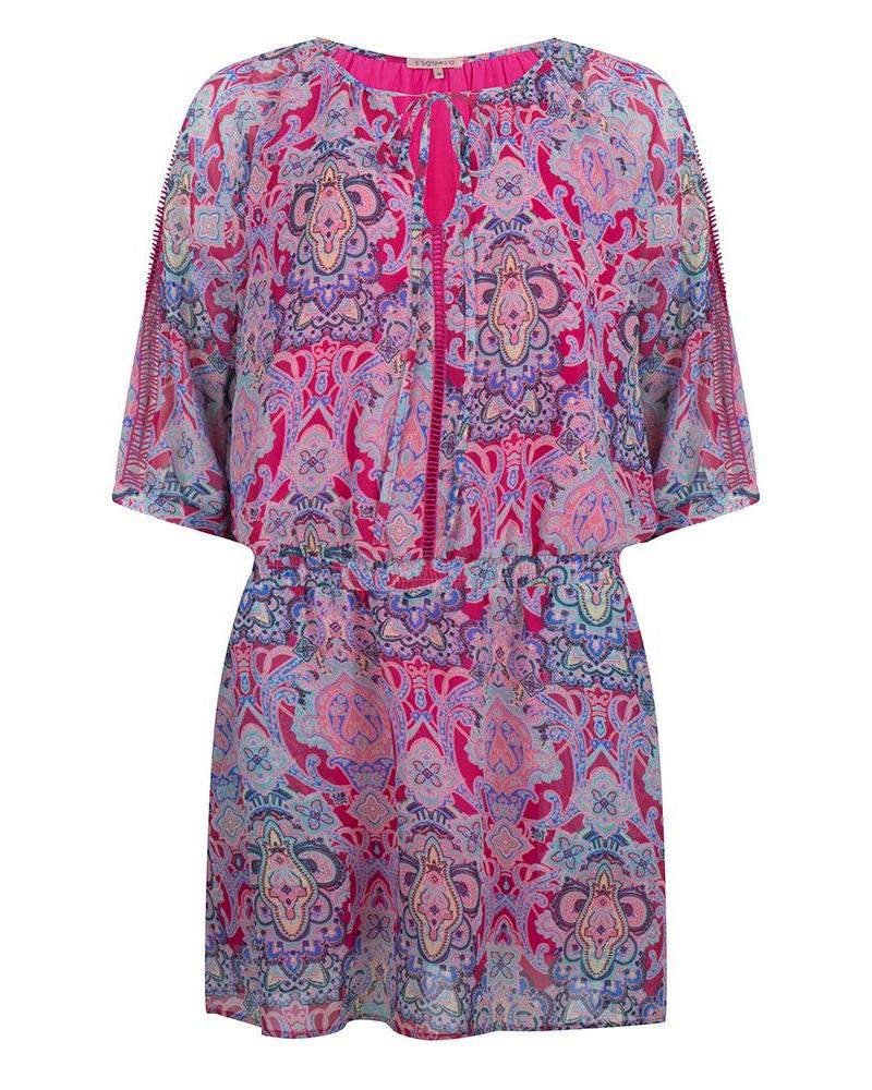 ESQUALO Dress tape paisley