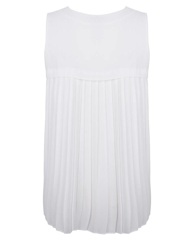 ESQUALO Bls slv/lss plisse off white