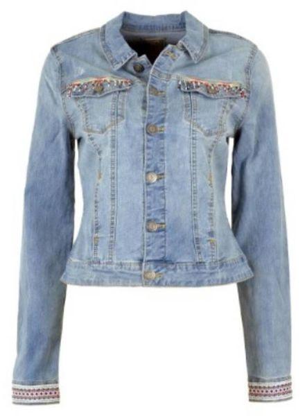 GEISHA Jacket 85014 - 000830 - bleached denim