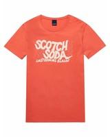 Scotch&Soda 144218-Ams Blauw Scotch & Soda simple graphic tee in regular fit 2133
