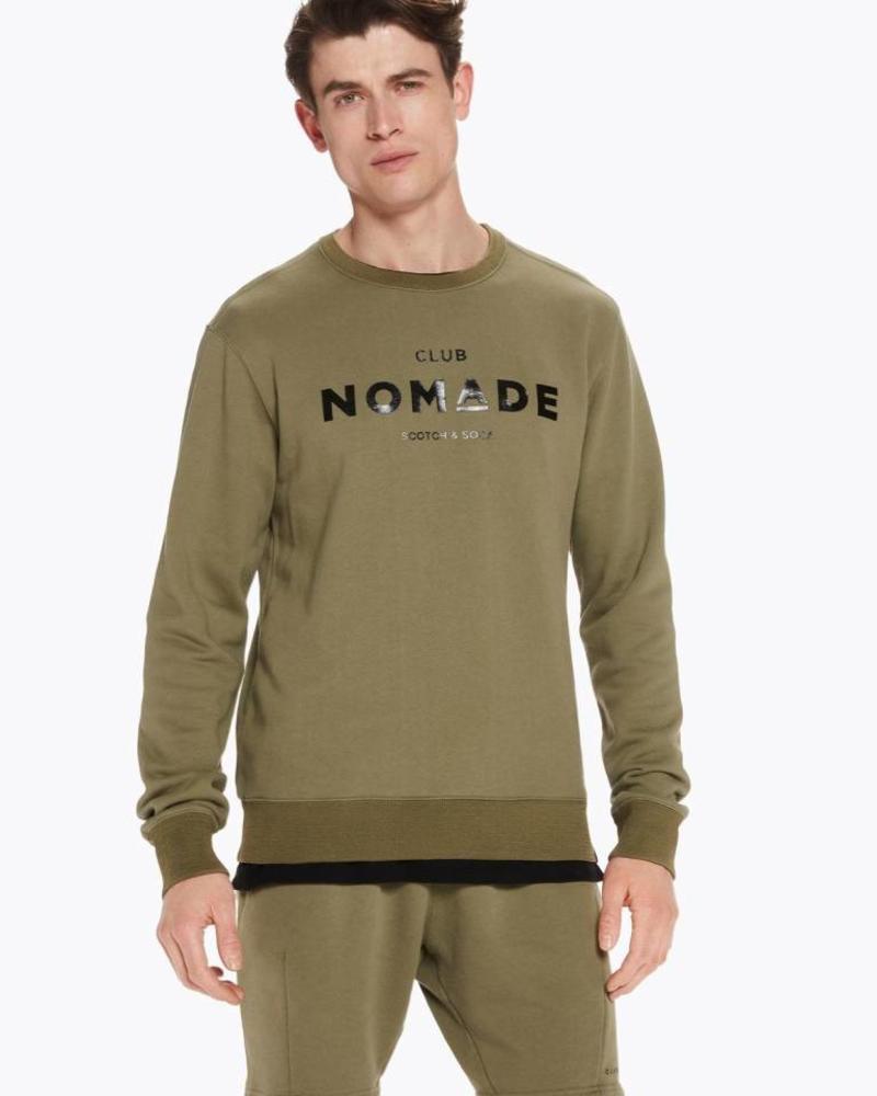 Scotch&Soda 145155-Club Normade signature grapic crew neck sweat in regular fit 1773