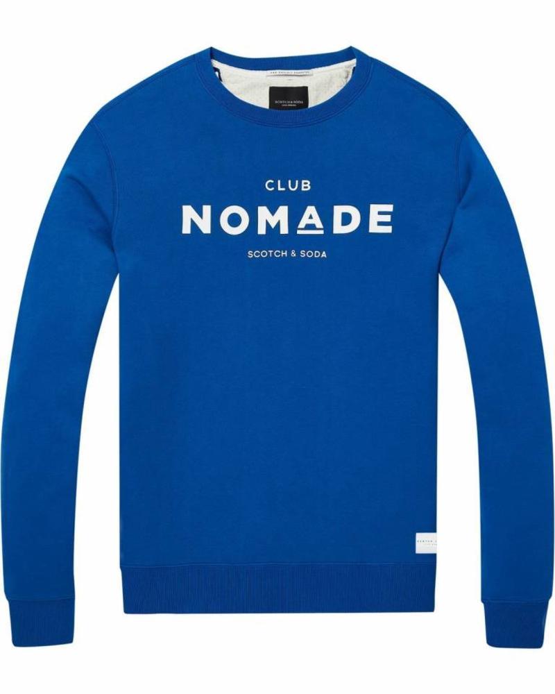 Scotch&Soda 145155-Club Normade signature grapic crew neck sweat in regular fit 2135