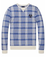Scotch&Soda 144189-Ams Blauw regular fit concept sweat with allover prints