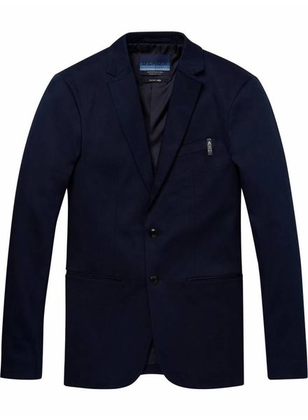 Scotch&Soda 147433-Ams Blauw stretch denim suit jacket