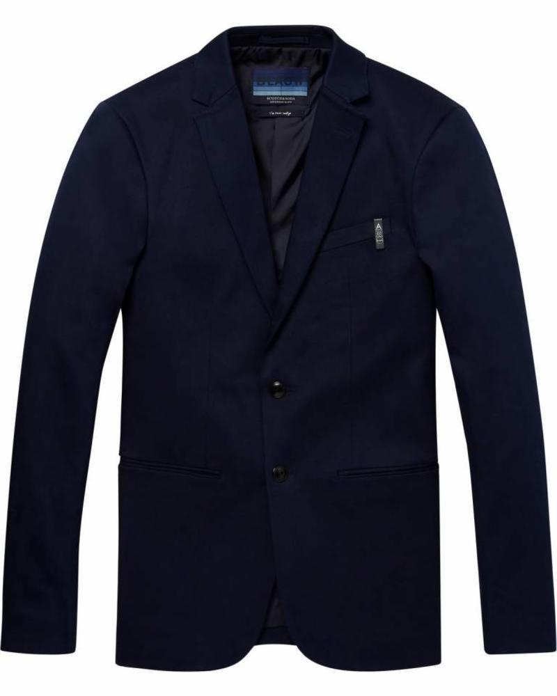 Scotch&Soda 147433-Ams Blauw stretch denim suit jacket
