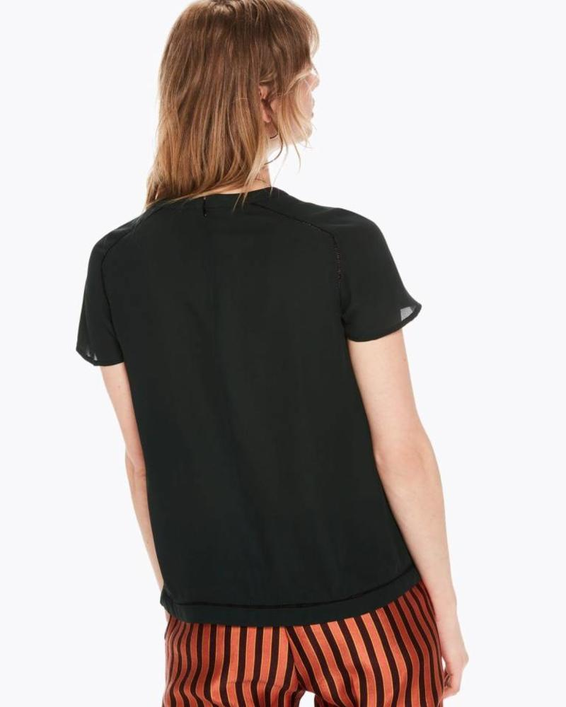 ... SCOTCH   SODA 146524 Short sleeve top with ladder inserts in various  prints ... f4072b963bb6