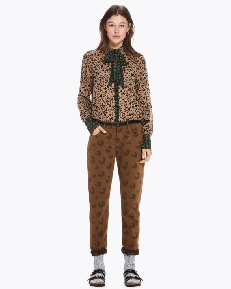 SCOTCH & SODA 146339 Mixed print shirt with bow 17