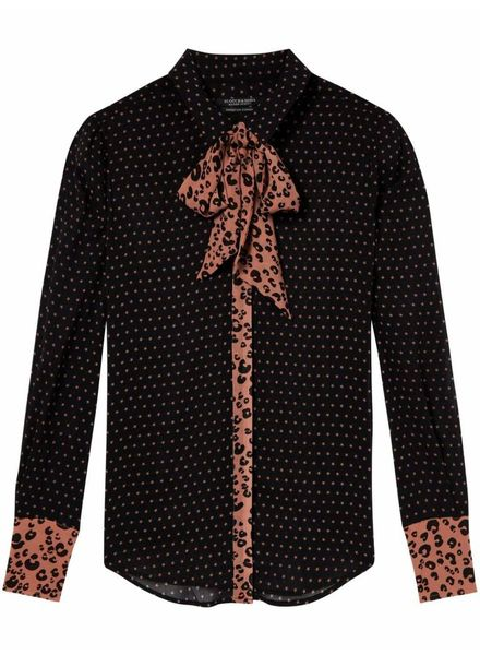 SCOTCH & SODA 146339 Mixed print shirt with bow 18