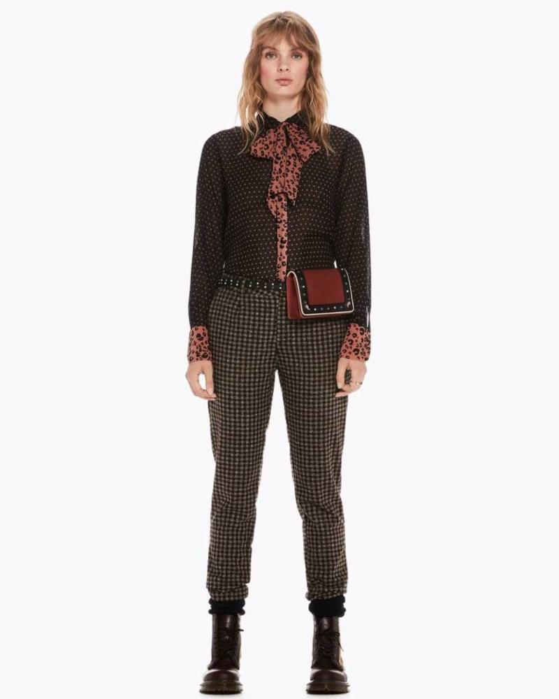 SCOTCH & SODA 146339 Mixed print shirt with bow 18