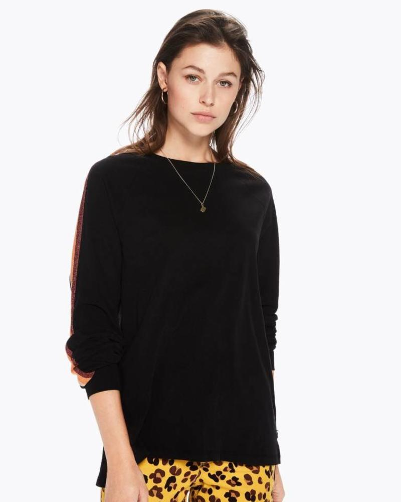 SCOTCH & SODA 146408 Long sleeve tee with rib shiny tape