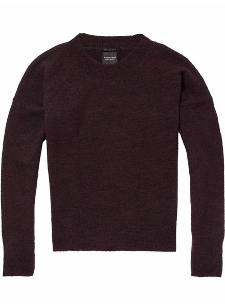 SCOTCH & SODA 146559 Basic crew neck in fluffy yarn