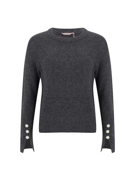 ESQUALO F18.03530 Sweater big pearl anthracite