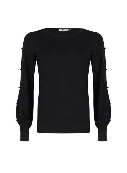 ESQUALO F18.07514 Sweater pearl ball sleeve black