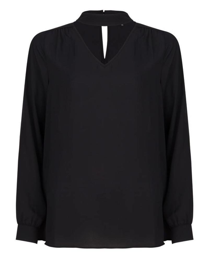 ESQUALO F18.14509 Blouse pleats back black