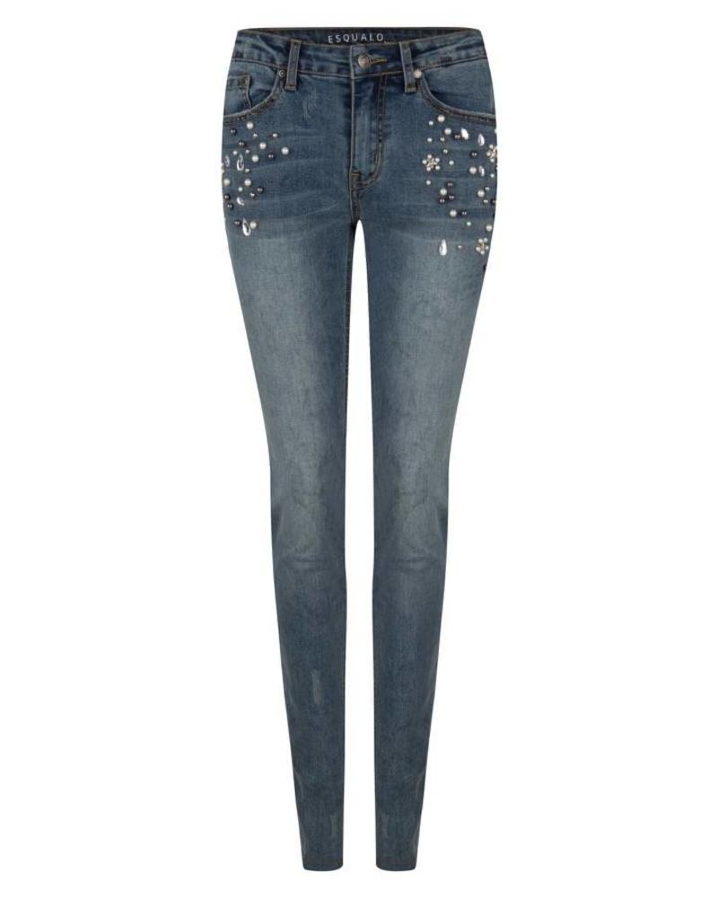 ESQUALO F18.12511 Jeans pearls blue