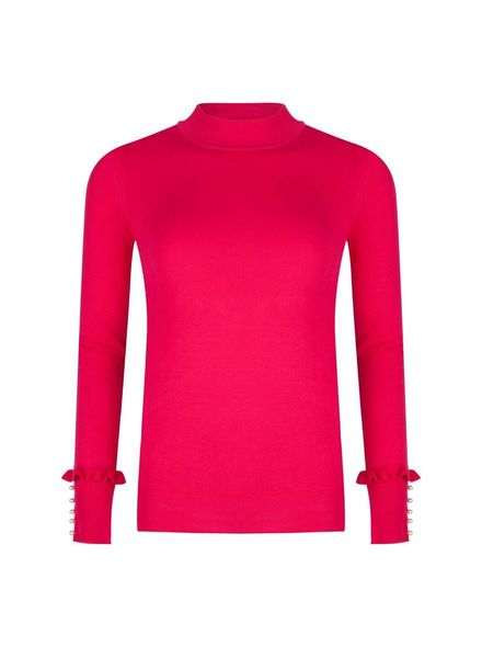 ESQUALO F18.07510 Sweater turtle neck fuchsia