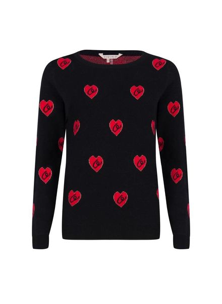 ESQUALO F18.02507 Sweater heart black