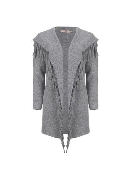 ESQUALO F18.02530 Cardigan frignes grey