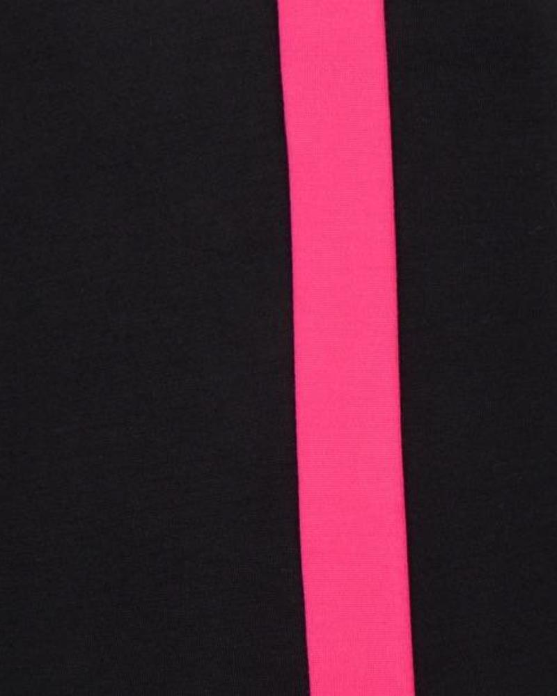 ESQUALO F18.05511 Tregging contrast seam black/fuchsi