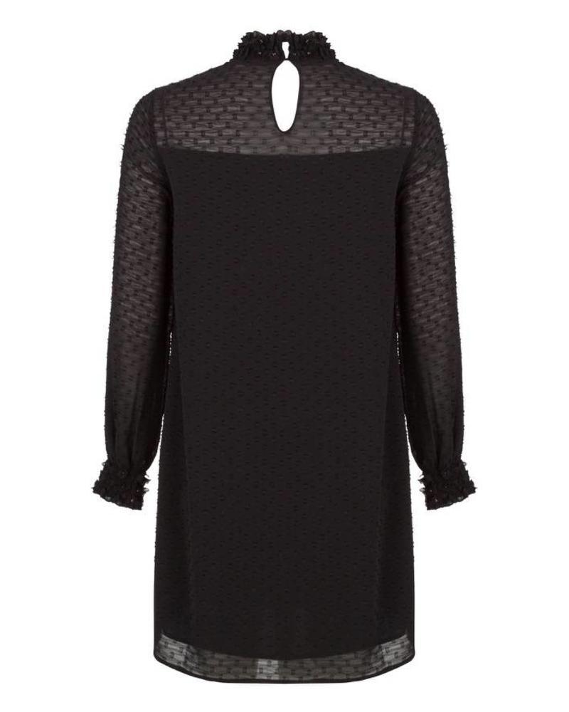 ESQUALO F18.14529 Dress plumetis black