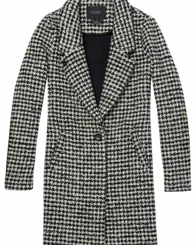 SCOTCH & SODA 145052 Bonded wool jacket in checks and solids