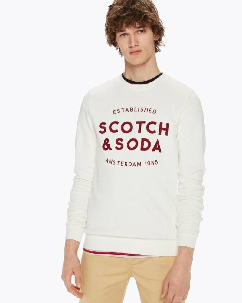 Scotch&Soda 145460 Classic sweat with logo chest artwork 0086